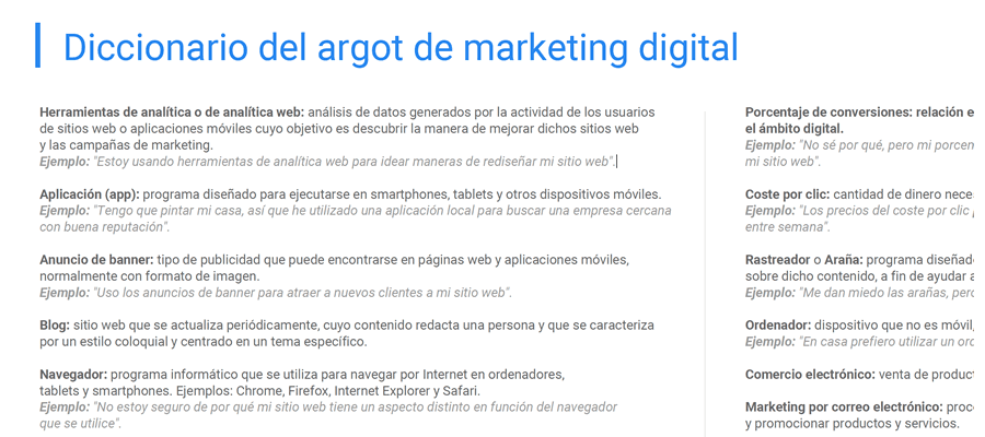 "<span itemprop=""name"">Glosario de la jerga de marketing digital</span>"